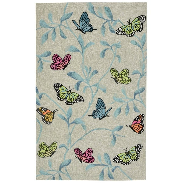 Liora Manne Ravella Resting Wings Outdoor Rug (3'6 x 5'6) - 3'6 x 5'6
