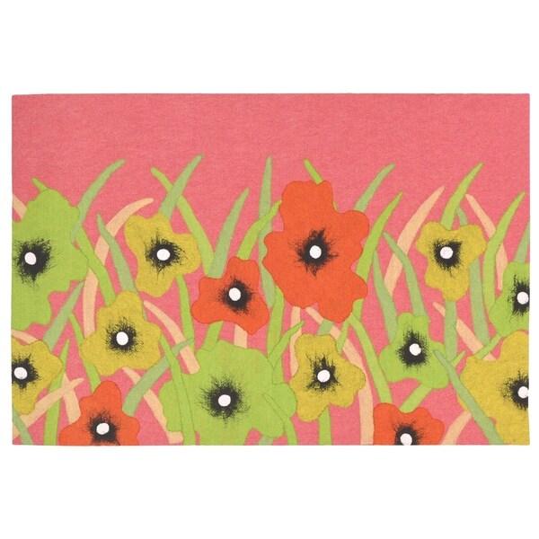 Liora Manne Free Blossoms Rug (1'8 x 2'5.5) - 1'8 x 2'5.5