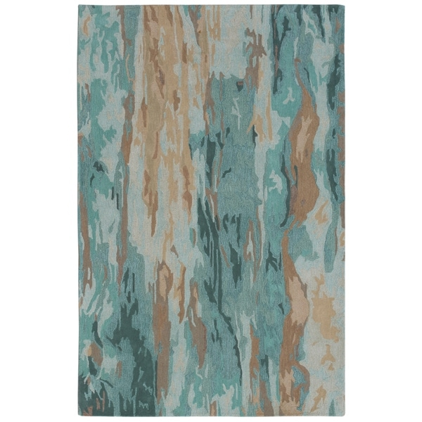 "Liora Manne Corsica Waterfall Wool Indoor Rug Patina 3'6"" X 5'6"" - 3'6 X 5'6"