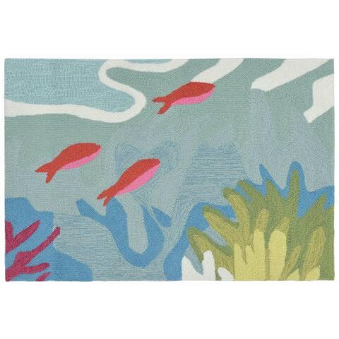 Liora Manne Ravella Ocean View Outdoor Rug (2' x 3') - 2' x 3'