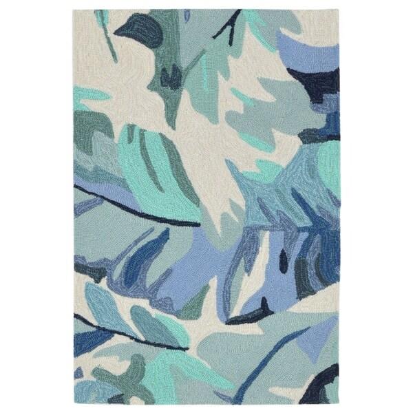 Liora Manne Capri Fan Leaf Outdoor Rug (2' x 3') - 2' x 3'