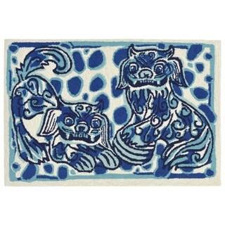 Dragon Dogs Outdoor Rug (2' x 3') - 2' X 3'