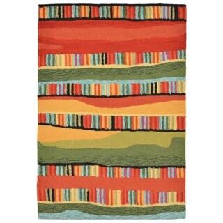 Liora Manne Ravella Organic Stripes Outdoor Rug (2' x 3') - 2' x 3'