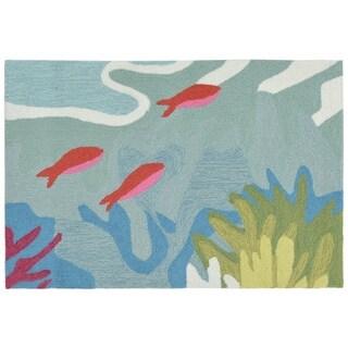 Liora Manne Ravella Ocean View Outdoor Rug (2'6 x 4') - 2'6 x 4'
