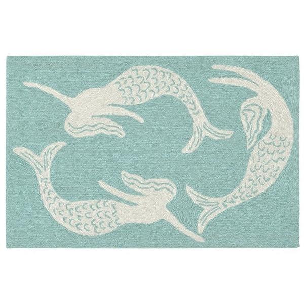Liora Manne Capri Mermaid Outdoor Rug (1'8 x 2' 6) - 1'8 x 2' 6