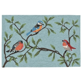 Liora Manne Ravella Summer Birds Outdoor Rug (2' x 3') - 2' x 3'