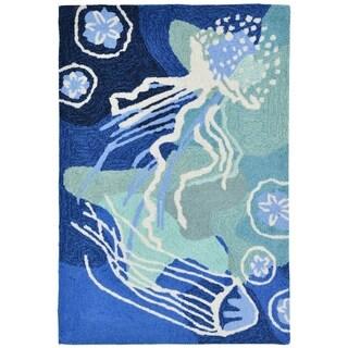 Liora Manne Capri Jellyfish Outdoor Rug (2' x 3') - 2' x 3'