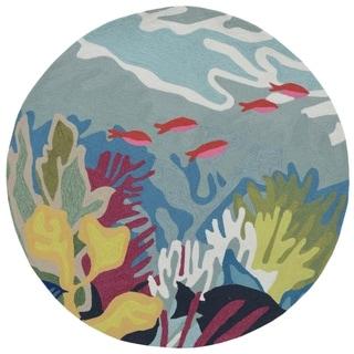 Liora Manne Ravella Ocean View Outdoor Rug (5' x 5') - 5' x 5'