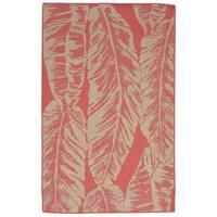 Tropical Leaf Outdoor Rug (7'10 x 7'10) - 7'10 x 7'10