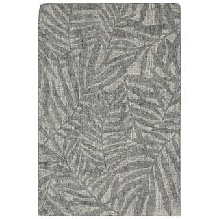 """Liora Manne Savannah Olive Branches Wool Indoor Runner Rug Flannel 2' X 7'6"""" - 2' x 7'6"""""""
