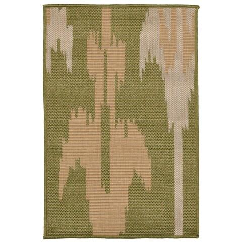 Liora Manne Tribal Outdoor Rug (1'11 x 2'11) - 1'11 x 2'11