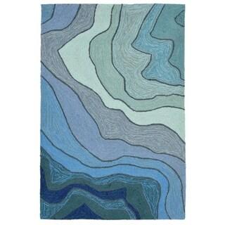Liora Manne Ravella Waves Outdoor Rug (2' x 3') - 2' x 3'