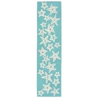 Liora Manne Capri Starfish Outdoor Rug (2' x 8') - 2' x 8'