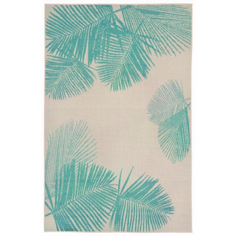 Liora Manne Tropical Palm Leaves Outdoor Rug (7'10 x 7'10) - 7'10 x 7'10