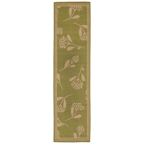 Liora Manne Floral Scatter Outdoor Rug (1'11 x 7'6) - 1'11 x 7'6