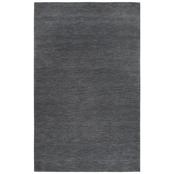 Rizzy Home Fifth Avenue Dark Grey Wool Solid Handmade Area Rug - 8' x 10'