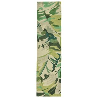 Liora Manne Capri Fan Leaf Outdoor Rug (2' x 8') - 2' x 8'