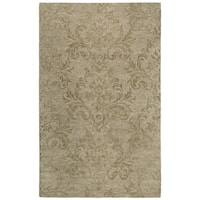 Rizzy Home Fifth Avenue Brown Wool Handmade Damask Area Rug - 8' x 10'