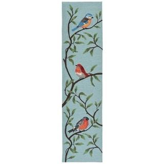 Liora Manne Ravella Summer Birds Outdoor Rug (2' x 8') - 2' x 8'