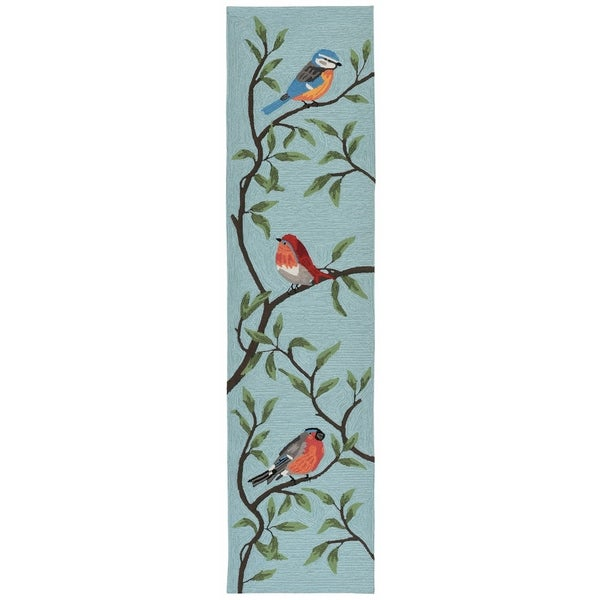 Liora Manne Ravella Summer Birds Outdoor Rug (2' x 8') - 2' x 8'