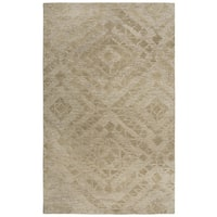 Rizzy Home Fifth Avenue Diamond Brown Wool Area Rug - 8' x 10'