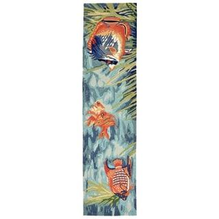 Liora Manne Ravella Tropical Fish Outdoor Rug (2' x 8') - 2' x 8'