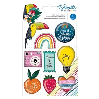 Shimelle Box Of Crayons Shaker Stickers 9/Pkg