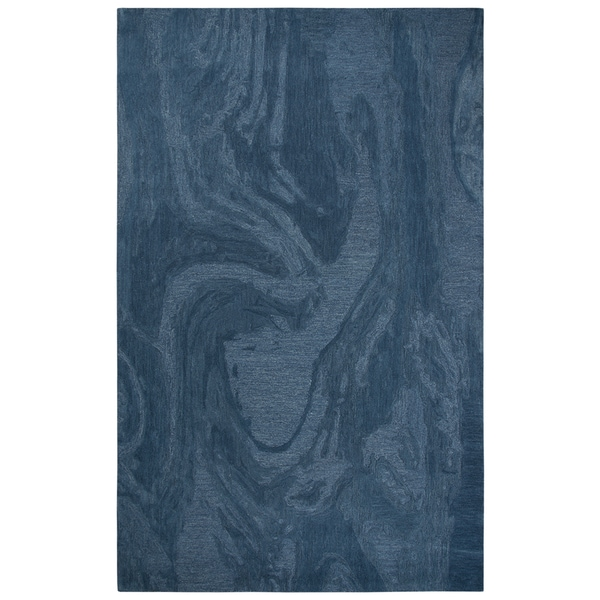 Rizzy Home Fifth Avenue Blue Abstract Wool Handmade Area Rug - 8' X 10'