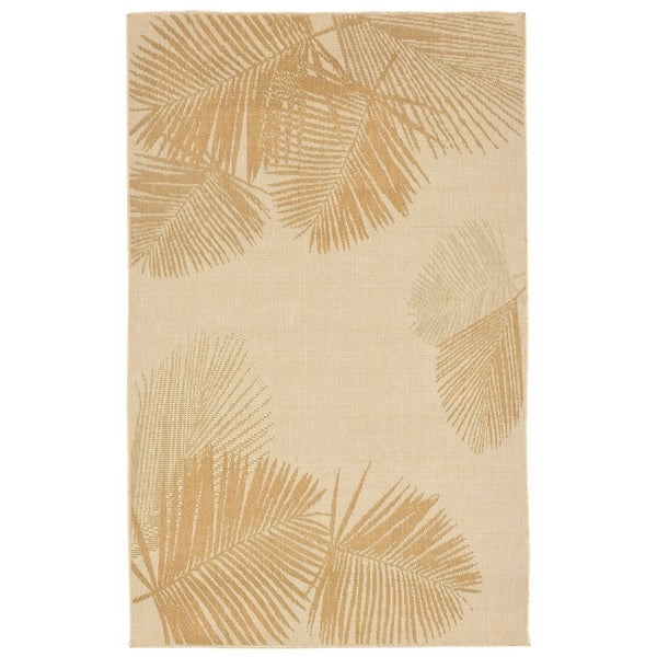 Liora Manne Tropical Palm Leaves Outdoor Rug (1'11 x 7'6) - 1'11 x 7'6