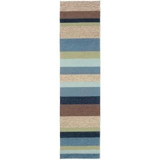 Liora Manne Ravella Stripe Outdoor Rug (2' x 8') - 2' x 8'