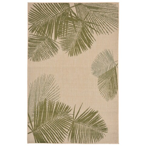 Liora Manne Tropical Palm Leaves Outdoor Rug (4'10 x 7'6) - 4'10 x 7'6