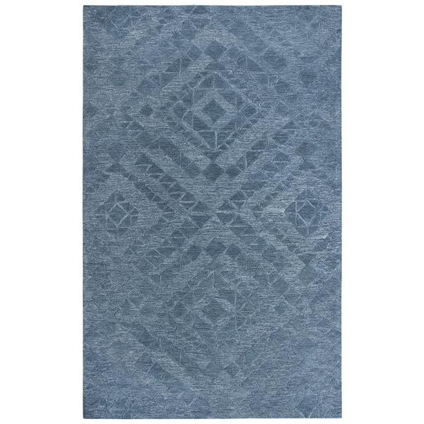 Rizzy Home Fifth Avenue Blue Diamond Area Rug - 8' x 10'