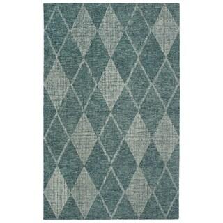 "Liora Manne Savannah Diamond Wool Indoor Runner Rug Teal 2' X 7'6"" - 2' x 7'6"""