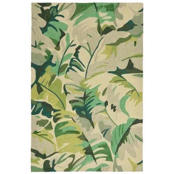 Fan Leaf Outdoor Rug (5' x 7'6) - 5' x 7'6