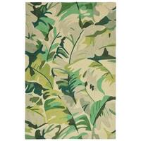 Fan Leaf Outdoor Rug (5' x 7'6) - 5' x 7'6