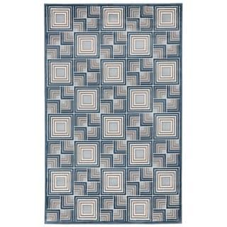 Liora Manne Square In Square Rug (1'11 x 7'6) - 1'11 x 7'6