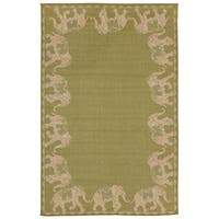 Elephant Parade Outdoor Rug - 4'10 x 7'6