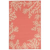 Reef Border Outdoor Rug - 4'10 x 7'6