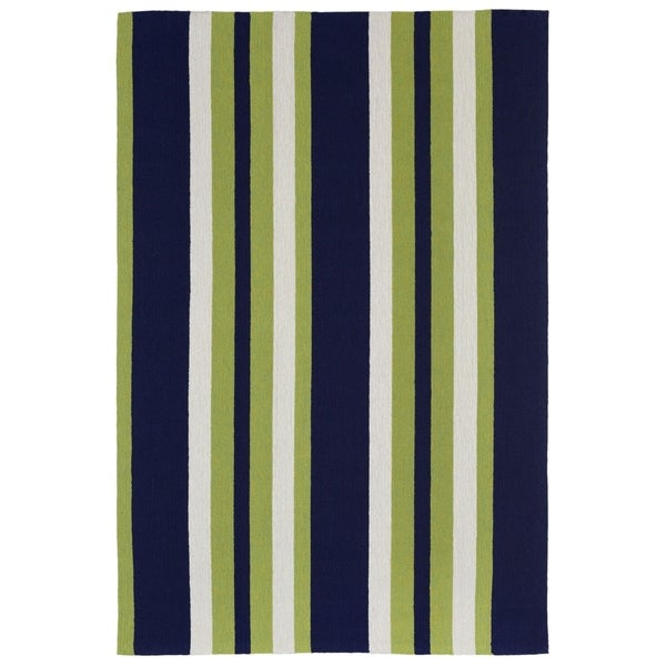 Liora Manne Multi Stripe Outdoor Rug (5' x 7'6) - 5' x 7'6