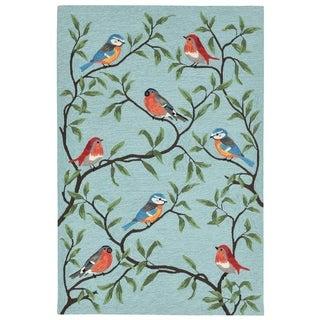 Liora Manne Ravella Summer Birds Outdoor Rug (5' x 7'6) - 5' x 7'6