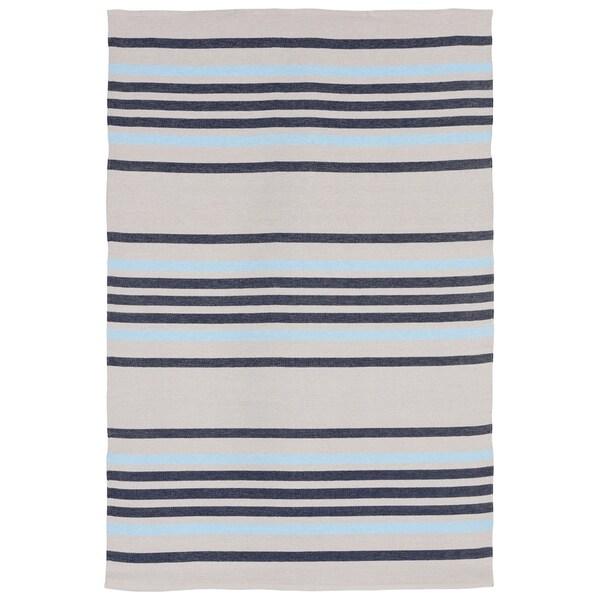 Liora Manne Multi Stripe Outdoor Rug (5' x 7'6) - 5' x 7'6
