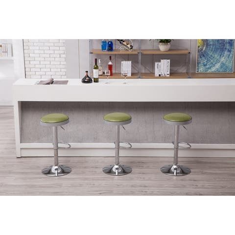 Copley Backless Adjustable Bar or Counter Stool with Chrome Base