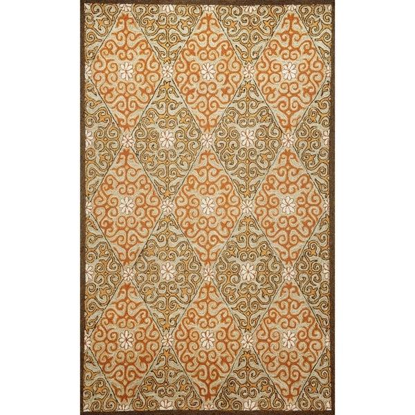 Embellished Diamonds Outdoor Rug (5' x 7'6) - 5' x 7'6