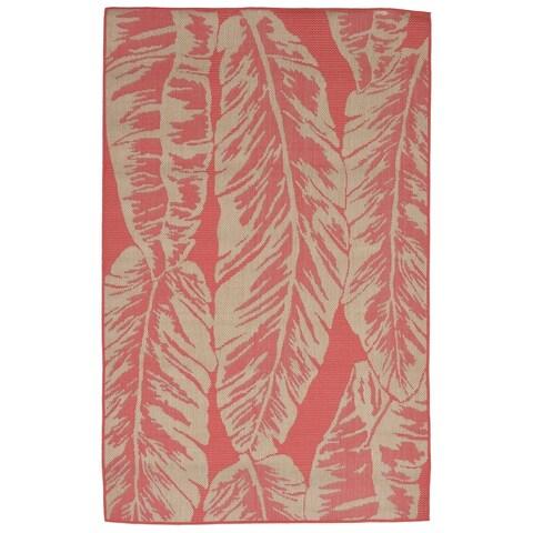 Liora Manne Tropical Leaf Outdoor Rug (4'10 x 7'6) - 4'10 x 7'6