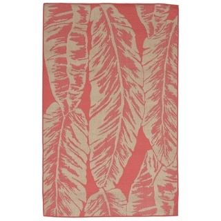 Liora Manne Tropical Leaf Outdoor Rug (4'10 x 7'6) - 4'10 x 7'6