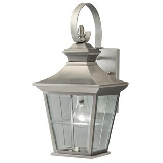 Aztec Lighting 1-light Antique Pewter Outdoor Wall Lantern
