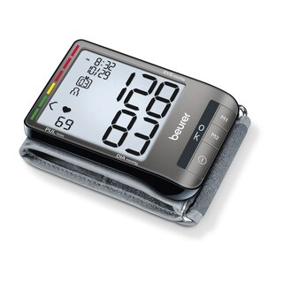 Beurer Wrist Blood Pressure Monitor with Adjustable Wrist Cuff and Large LCD Display