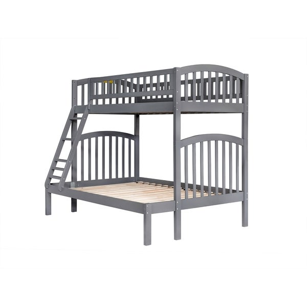 Shop Richland Bunk Bed Twin Over Full In Grey On Sale Free