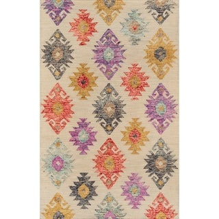Momeni Tangier Wool Hand Tufted Beige Area Rug - 2' x 3'