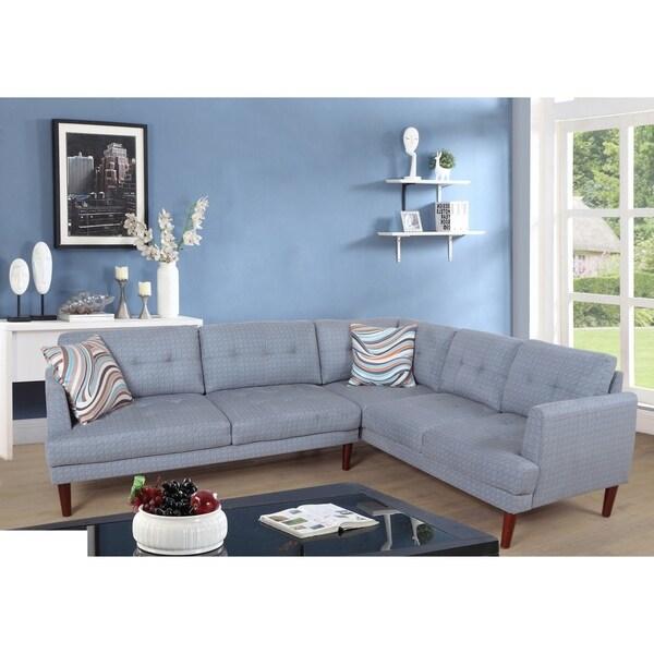 Shop Star Home Mid Century Blue Upholstered Living Room